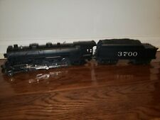 Rail King Santa Fe MT-1102 Mohawk Die Cast Steam Engine 3700 and Tender in Box!