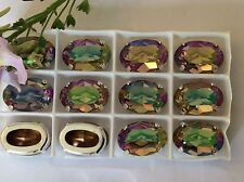 3 swarovski #4120 vintage oval sew on 16x11mm purple haze artisanat poste gratuit