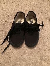 Vans Toddler Kids Boys Girls Black on Black Canvas Classic Skater Shoes Sz 10.5