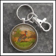 Vintage DuPont Gunpowder Tin photo keychain Pheasant Hunting Father's Day Gifts