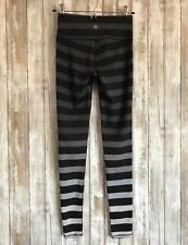 NEW Athleta High Rise Bold Stripe Chaturanga Tight Black Grey Ombre XXS RARE!