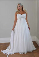 New Plus Size White/Ivory Wedding Dress Bridesmaids' & Formal Dresses :14W - 26W