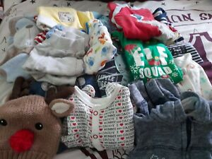 Boys Clothes Bundle Ranging From Birth To 9 Months Old
