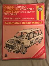 Haynes Repair Manuals:Dodge, Plymouth and Chrysler Mini-Vans, 1984-1995 30010