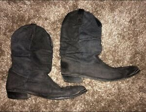 Mens VTG Really Soft Leather Western Cowboy Boots 12D Rodeo Ranch Farm     LOOK