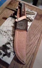 Western W49, Ontario Knife SP-10, Case XXX Bowie  Handmade Leather  Sheath