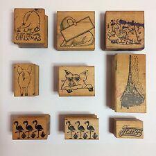 Set of 9 Vintage All Night Media Rubber Stamps 1978 & 1979