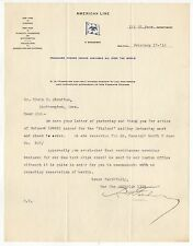 1916 AMERICAN LINE Letter TLS Cruise SHIP Liner SS FINLAND Red Star White Star