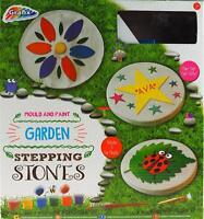 Grafix Make, Design, Paint Your Own Plaster Stepping Stone Kit