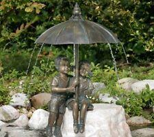 Gartenfigur Schirmpärchen Midi 50   Wasserspeier Bronze Skulptur Rottenecker