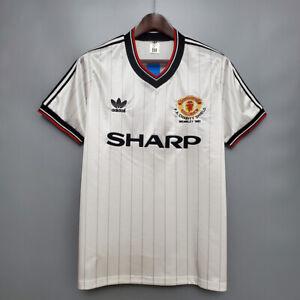 1983 Manchester United Charity Shield Shirt Retro Football Jersey Robson #7 BNWT