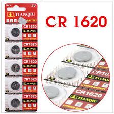 5pcs CR1620 3V Lithium BUTTON CELLS - FREE S/H!