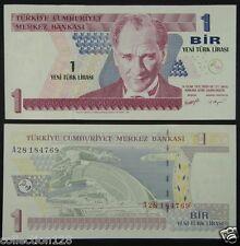 Turkey Paper Money 1 Lira 2005 UNC