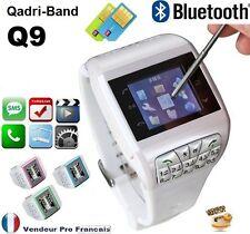 Montre Téléphone Ecran Tactile Camera Débloqué Tout operateur Dual SIM* Q9 Blanc