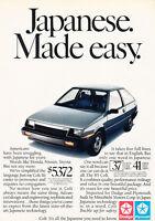 1985 Dodge Colt - Japanese - Classic Vintage Advertisement Ad D141