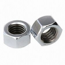 "7/16"" UNF Plain Steel Nuts - Pack of 10"