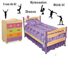 Gymnastics Vinyl Wall Decals Decor Letters Children Art Stickers sports custom