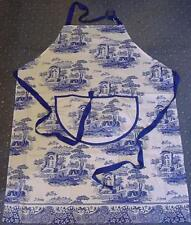 PIMPERNEL SPODE BLUE ITALIAN DESIGN COTTON DRILL APRON OR FULL LENGTH PINAFORE
