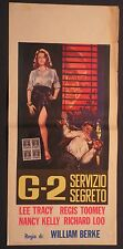 Locandina G-2 SERVIZIO SEGRETO ANNI '60 RARA!! LEE TRACY, REGIS TOOMEY, N. KELLY