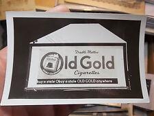 VINTAGE SNAPSHOT PHOTO OLD GOLD CIGARETES LARGE BILLBOARD SIGN