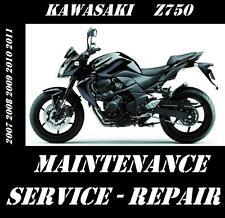 Kawasaki Z750 ZR750 Z ZR 750 Service Repair Manual 2007 2008 2009 2010 2011