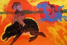 """ROBERT BEAUCHAMP """"GREEN EYED WARTHOG"""" Hand Signed Original Art Lithograph"""