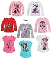 New Girls Official Disney MINNIE MOUSE Top T- Shirt Age 2 3 4 5 6 7 8 9 Years