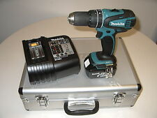Makita DHP 456 blue,Charger,1 x 18v 4Ah battery ,aluminum case,Successor,BHP456,