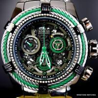 Invicta Reserve Bolt .33CTW Diamonds Steel Chronograph Swiss Mvt 52mm Watch New