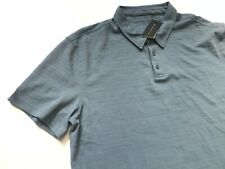 John Varvatos Men's Star Logo Grey Short Sleeve Polo Shirt XL NWT