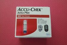 100 Accu-Chek Aviva Plus Diabetic Glucose Test Strips 08/2021 Pilled on one side