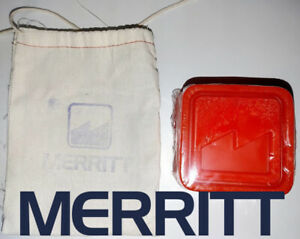 MERRITT LOGO BLOCK RED WAX 1/EA. NEW