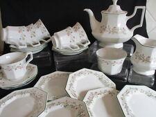 Johnson Brothers Eternal Beau 18 piece Tea set and sugar bowl milk jug & teapot