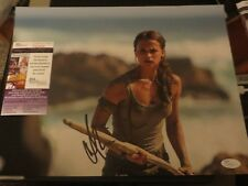 ALICIA VIKANDER SIGNED TOMB RAIDER 11X14 W/PROOF JSA AUTHENTICATED