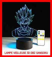 RARE LAMPE CHEVET USB 3D VEILLEUSE ENFANT DBZ DRAGON BALL Z SANGOKU 7 COULEURS