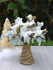 Miniature Fairy Garden Mini Village ~ Snow Fairies Frozen Christmas Icicle Tree