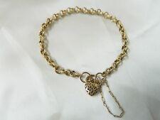 9ct Gold Belcher Link Bracelet with Padlock
