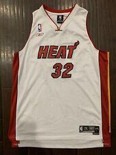 RARE🔥 Reebok NBA Miami Heat Shaquille Shaq O'Neal Sewn Jersey 2XL XXL White Red