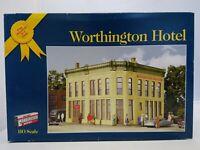 Walthers 933-3609 HO Worthington Hotel Building Kit Corner Stone Series