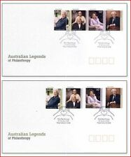 AUS0802FDC Legendary Australians  FDC 2 pieces