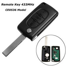 3 Button Remote Key Fob ID46 433MHz HU83 CE0536 For Peugeot 207 307 308 407 607
