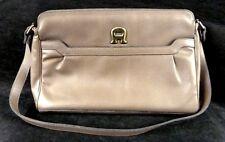 Etienne Aigner Taupe Tan Brown Leather Handbag Shoulder Purse Bag