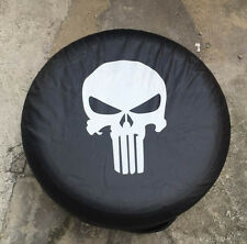 "18"" Spare Wheel Cover Tire Covers Skull Image Black Fit For all car"
