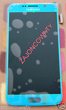 Genuine Samsung SM-G920F Galaxy S6 LCD Schermo Display AMOLED 2k Blu Topazio