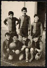 YZ0054 Squadra di Calcio - Ragazzi - Pallone - Foto d'epoca - Old photo