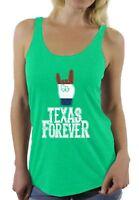 Texas Forever Racerback Tank Tops Women's Proud Texan