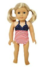 18 Inch Doll Clothes All American Swimsuit for American Girl Dolls
