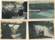 Vintage Photo Foto Austria Traunfall koloriert 1933 - 4 Stück Oberösterreich