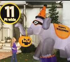 11' Wide Giant Circus Elephant Airblown Inflatable Halloween Outdoor Yard Decor
