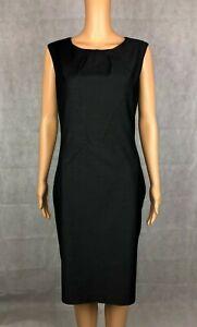 Sweet Chemise Charcoal Grey Smart Workwear Shift Dress - UK 10 EU 38